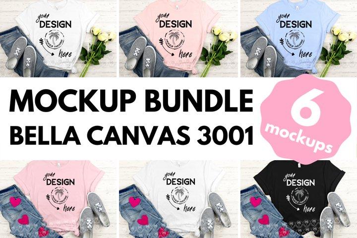 Bella Canvas Mockup Bundle - Bella Canvas 3001