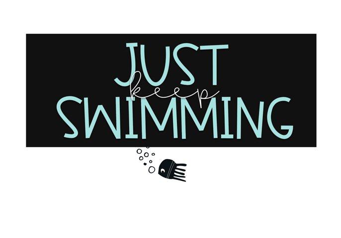 Jellyfish - A Fun Handwritten Font - Free Font of The Week Design1