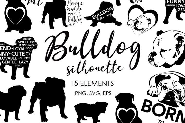 Dog Bundle, Dog SVG, Dog Breeds, Bulldog, Dog Silhouette