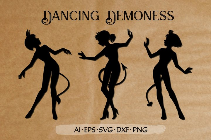 Dancing Demoness cut files set