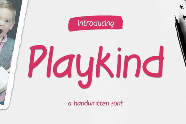 Playkind - Fun handwritten font