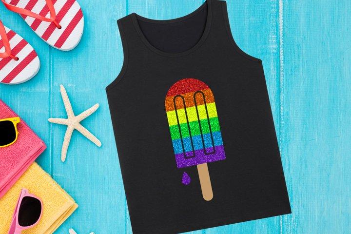 Rainbow Popsicle SVG Design