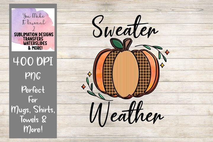 Sweater Weather, Hand Drawn Pumpkin Design