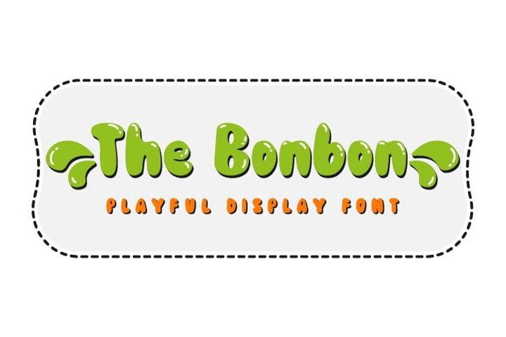 The Bonbon - Playful Display Font