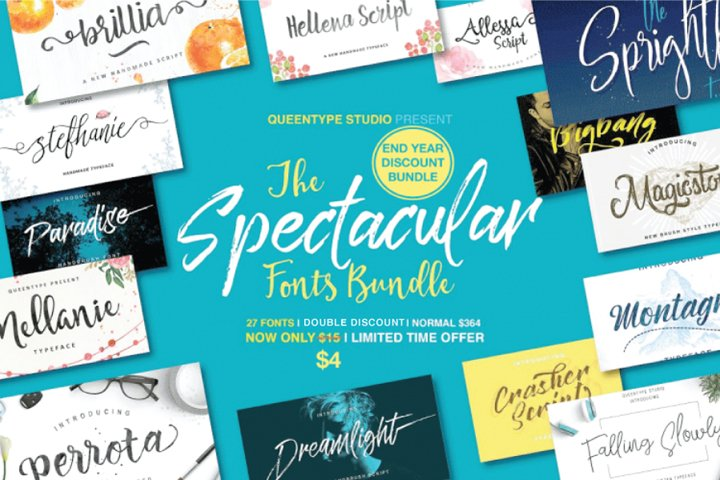 27 IN 1 FONT BUNDLE - 98 OFF Double Discount