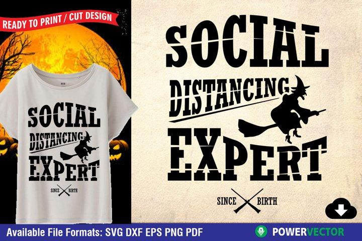 Funny Halloween SVG | Social Distancing Cut Files
