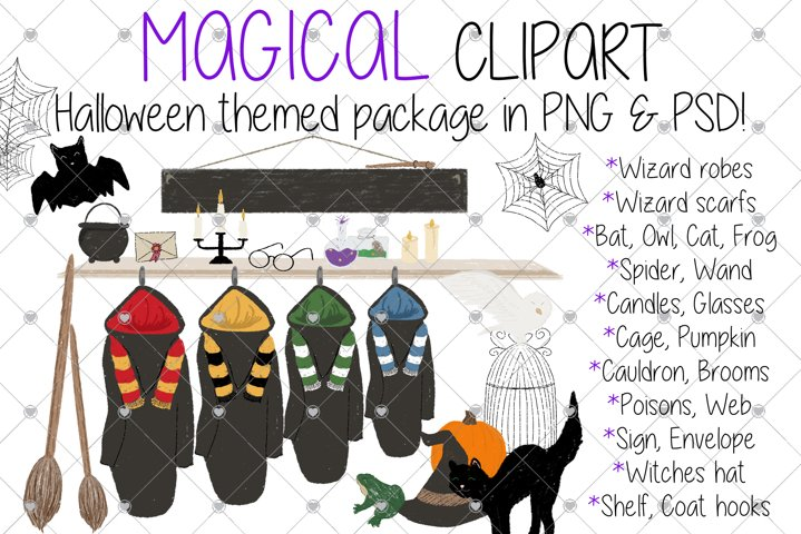 Magical, Magic, Wizard, Witch, Halloween, Broomstick,