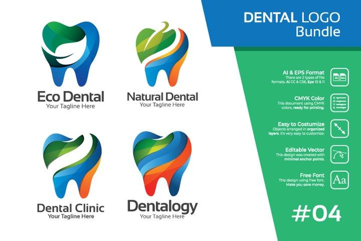 Set bundle logo - Dental and dentist bundle logo #4