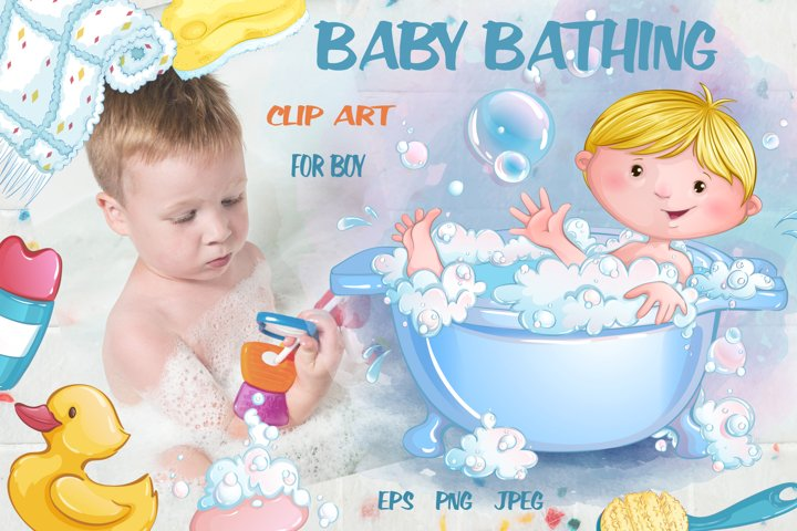 Baby bathing /for boys/