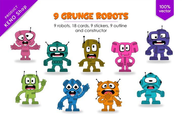 9 funny cartoon robots