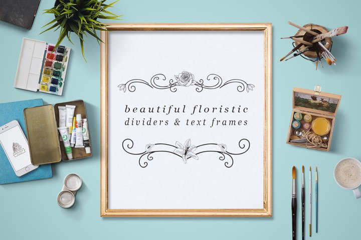 Flourish Dividers & Text Frames example 2