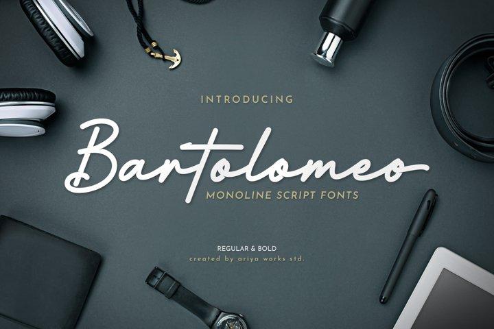 Bartolomeo   Monoline Script Fonts
