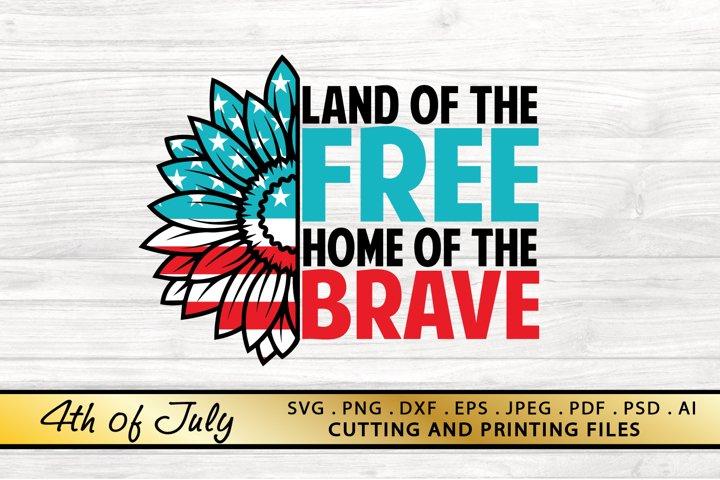 Veterans Day SVG PNG EPS DXF American SVG Sunflower USA SVG