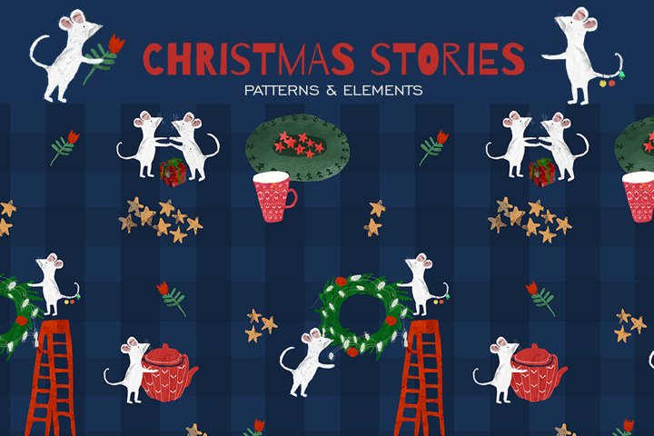 Christmas Pattern Watercolor
