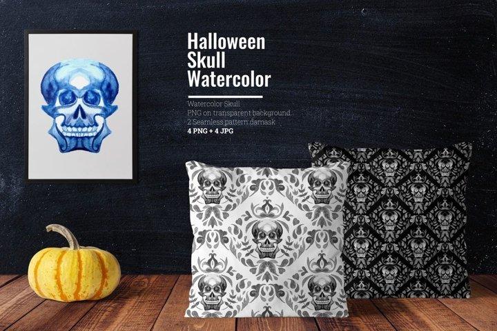 Halloween Skull Watercolor