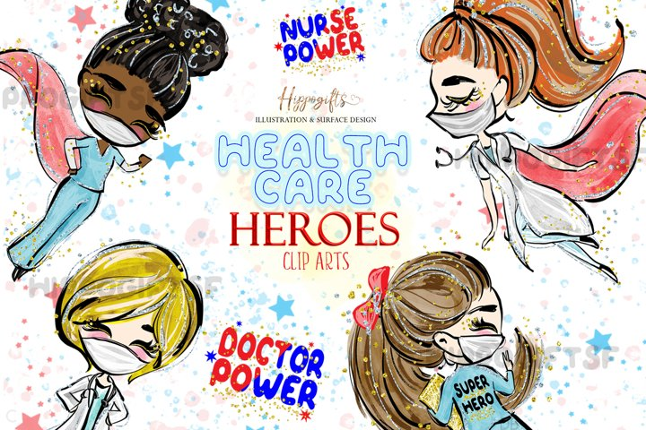 Healthcare heroes cliparts
