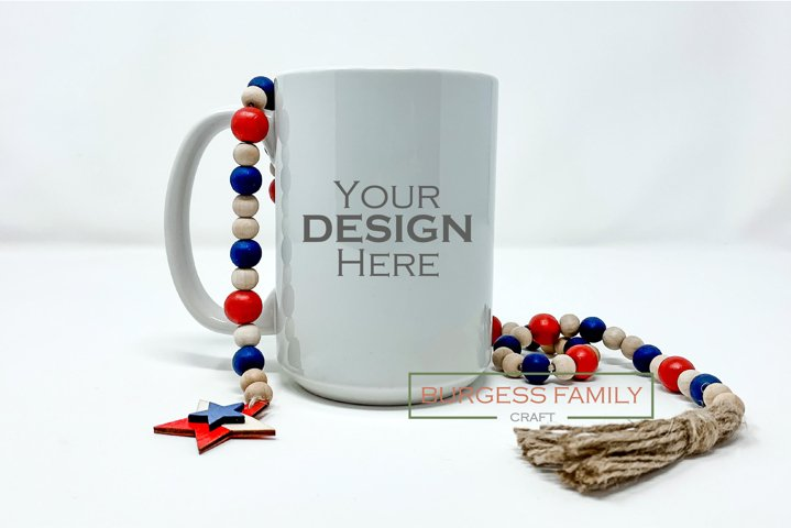 Sublimation Mug Patriotic USA| Craft mock up