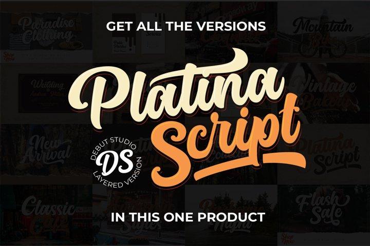 Platina Script / Layered Fonts