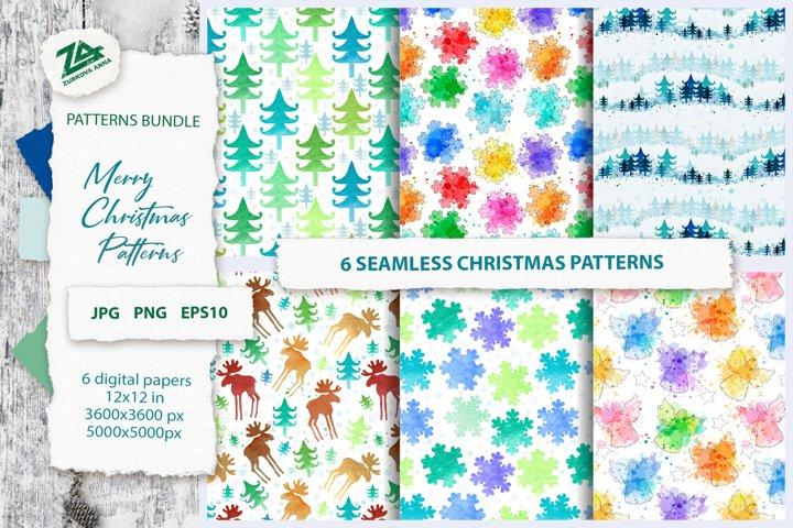Christmas Seamless Patterns Bundle JPG, PNG
