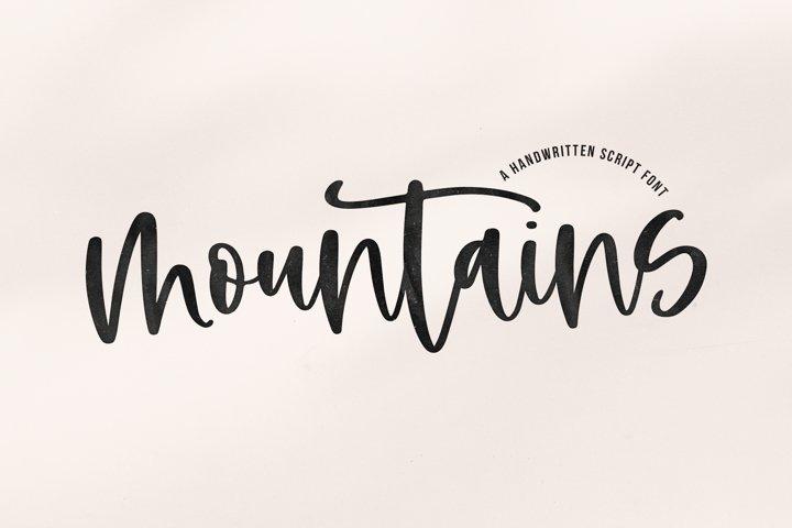 Mountains - A Handwritten Script Font