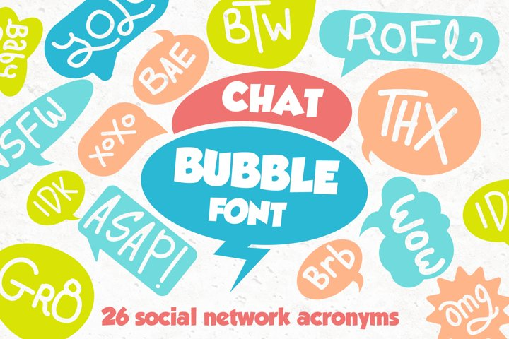 Chat Bubble Font