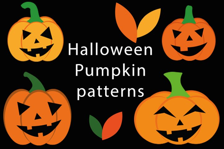 Bundle of Halloween pumpkin patterns