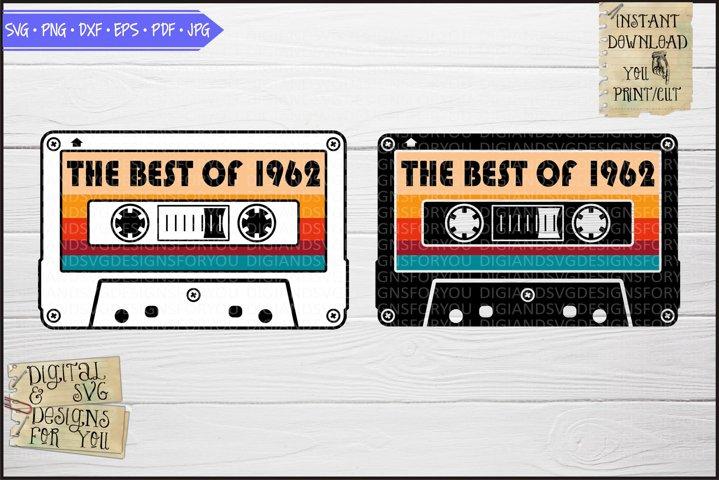 Best of 1962 Vintage cassette, Birthday 1960s