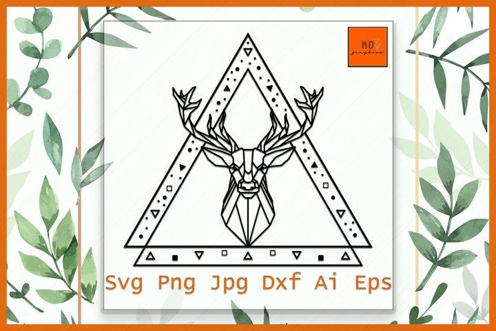 Deer Head SVG, Deer polygonal, Deer geometric, Deer Head