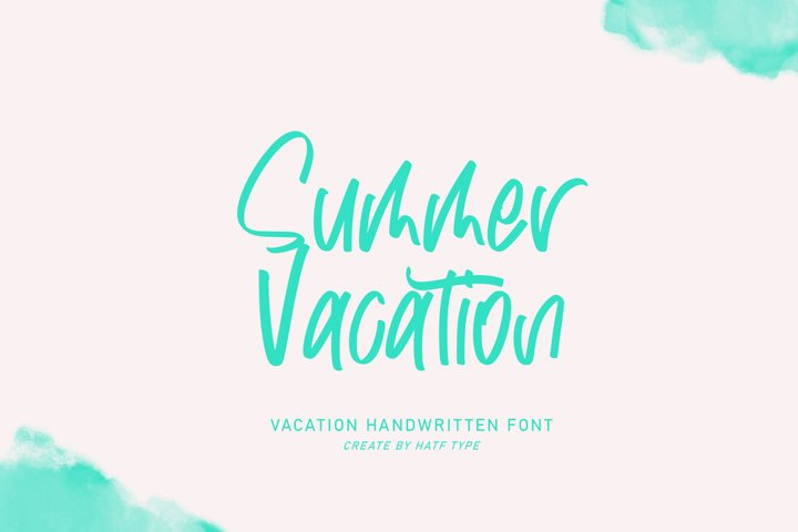 Summer Vacation - Handwritten Font