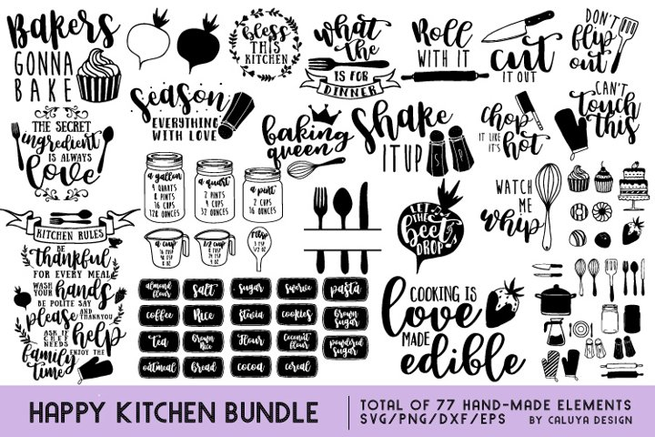 Happy Kitchen SVG Cut File Bundle