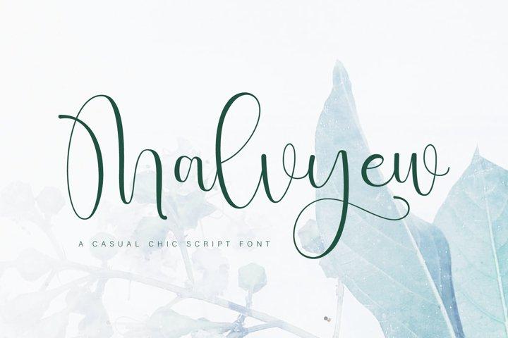 Malvyew Script Font