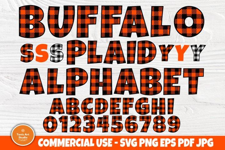 Buffalo Plaid SVG, Plaid Alphabet, Svg Fonts, Plaid Letters