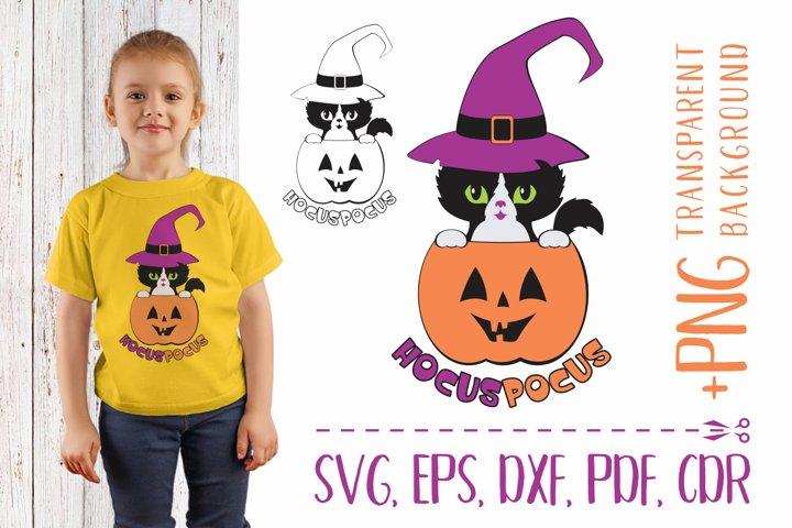 Hocus pocus 2. SVG with black cat