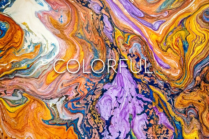 Handmade Liquid Paint - Colorful