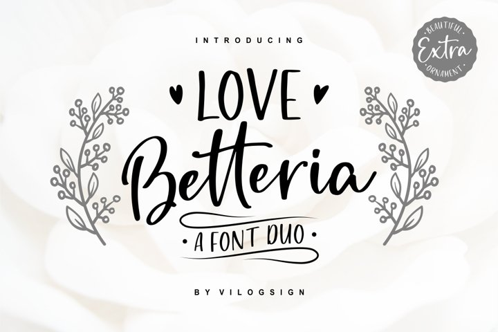 Love Betteria a Lovely Font Duo