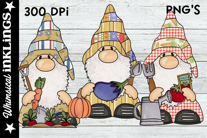 Gardening Gnomes Sublimation Clipart