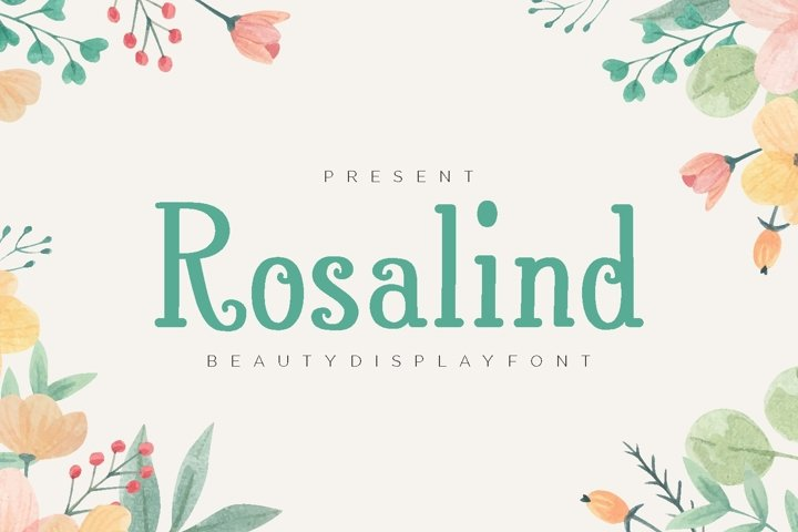 Rosalind - Beauty Display Font