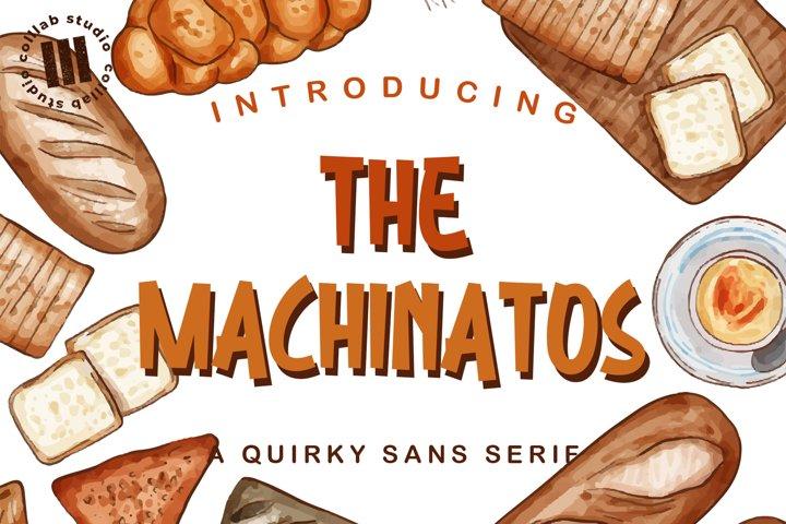 The Machinatos - A Quirky Sanserif Font