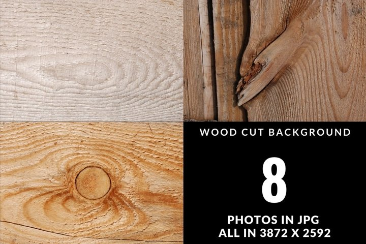 Wood slices digital background set. Wooden texture