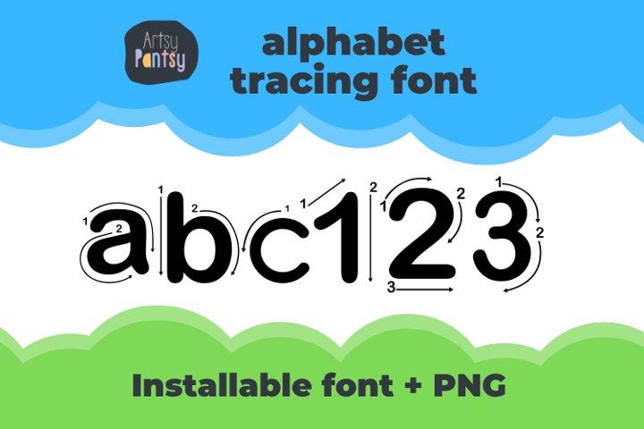 Artsy Regular Alphabet Tracing - Fonts for Teachers
