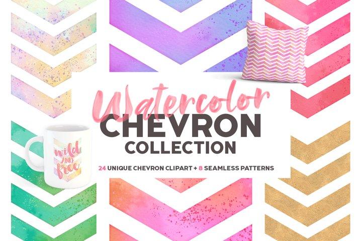 Watercolor Chevron Bundle | Sublimation Design Bundle