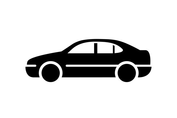 Car vector icon. Black car symbol