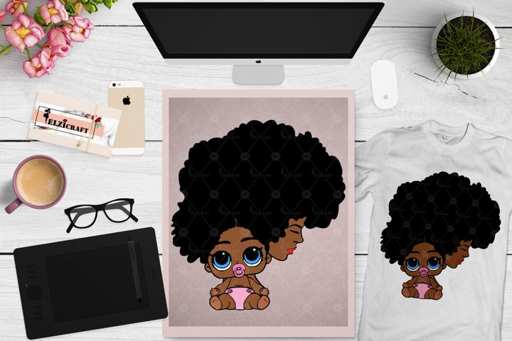 Afro Woman and kid, Mommy and me, Mother and baby SVG File