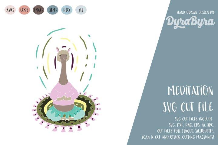 Yoga Meditation SVG / Llama SVG / Meditation / Yoga Vector