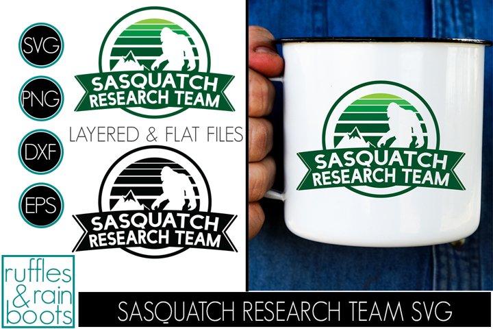 Sasquatch Research Team SVG for Bigfoot Fans - Clipart Cut
