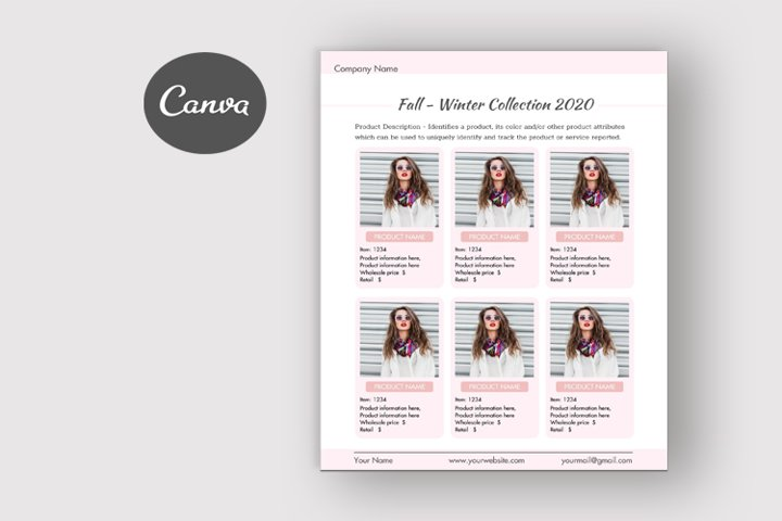 canva line sheet