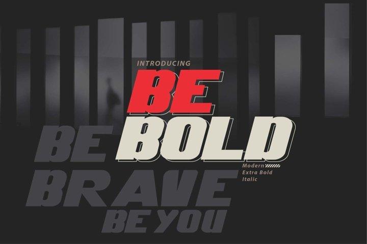 Be Bold italic modern
