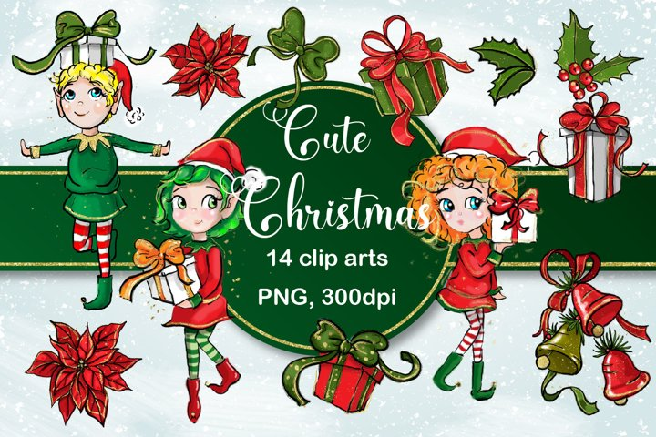 Cute Christmas Clip Arts