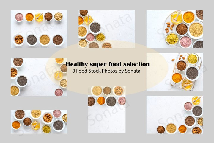 Healthy super food selection