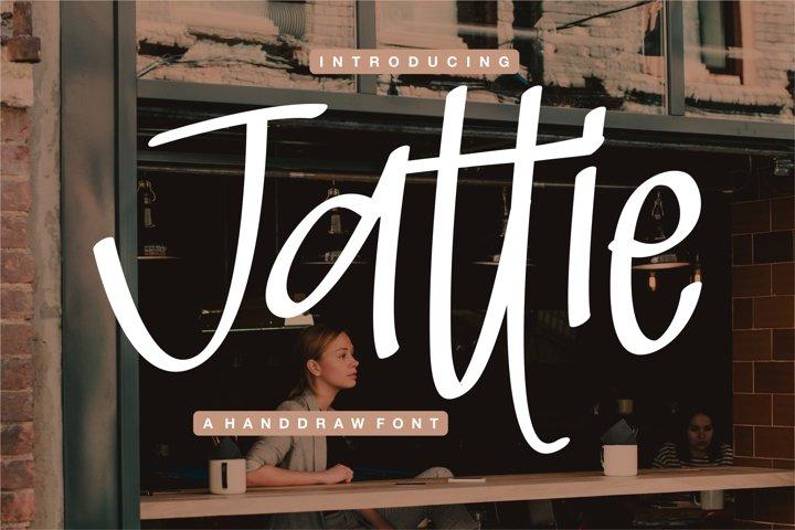 Jattie - A Handdraw Font